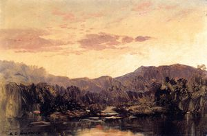 Aaron Draper Shattuck - Sunset over Lake George
