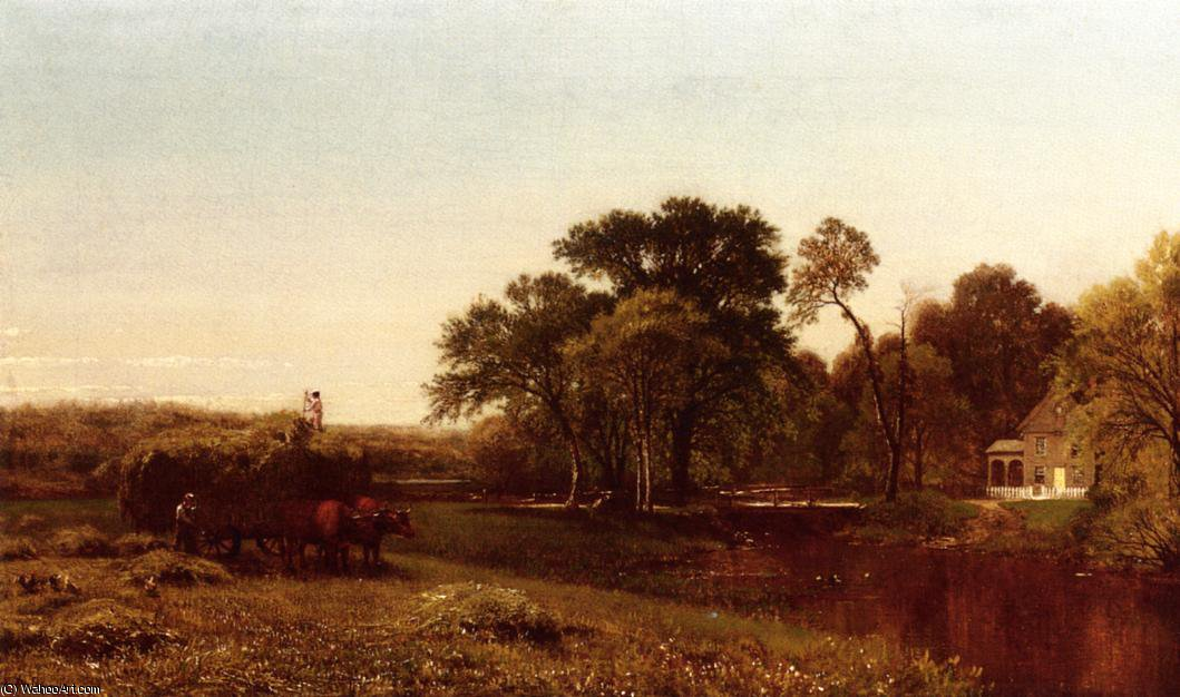 The hay wain - granby - connecticut by Aaron Draper Shattuck (1832-1928, United States) | Art Reproduction | ArtsDot.com