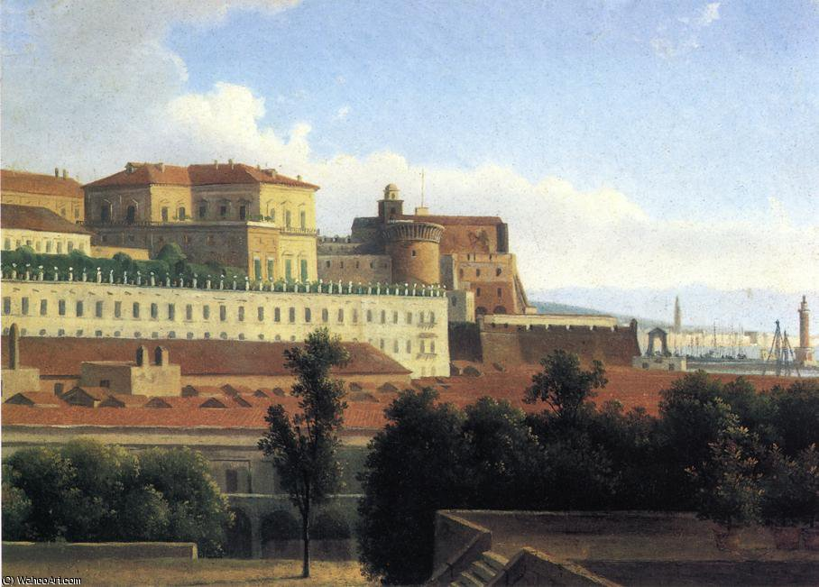 The Palazzo Reale and the Harbor - Naples by Alexandre Hyacinthe Dunouy (1757-1841, France) | Paintings Reproductions Alexandre Hyacinthe Dunouy | ArtsDot.com