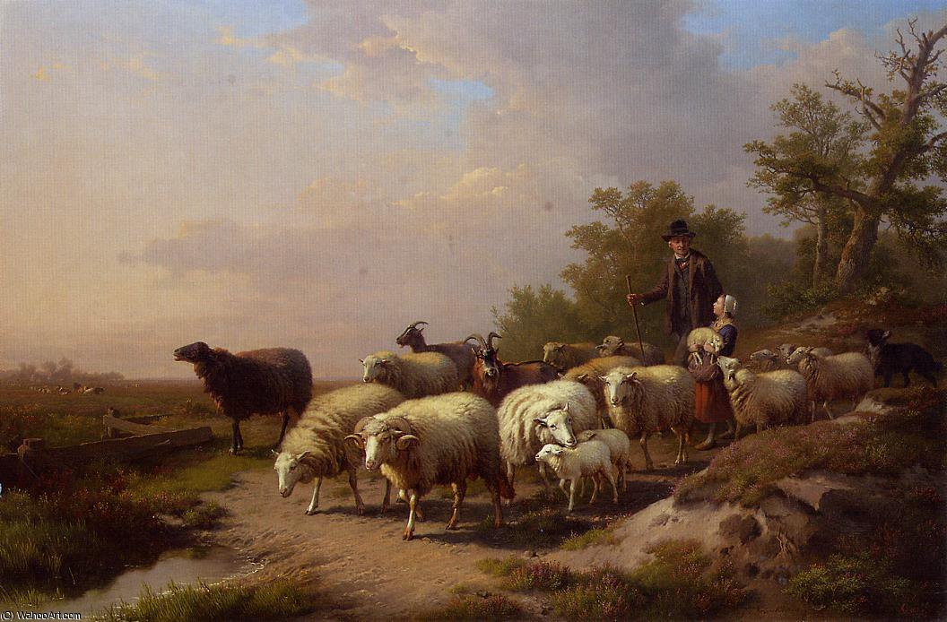 Tending the Flock by Anton Mauve (1838-1888, Netherlands) | Painting Copy | ArtsDot.com