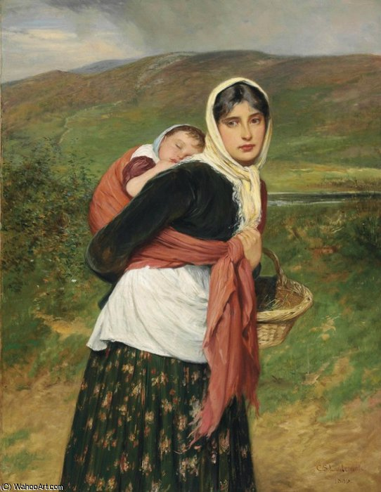 Returning from Market by Charles Sillem Lidderdale (1831-1895, Russia) | Oil Painting | ArtsDot.com