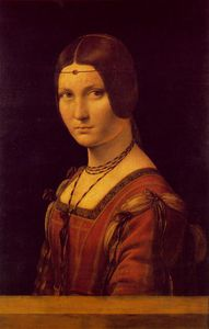 Leonardo Da Vinci - Portrait of a Lady from the Court of Milan, called