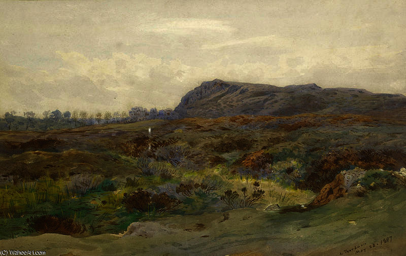 Moorland landscape by Archibald Thorburn  (order Fine Art Print on canvas Archibald Thorburn)