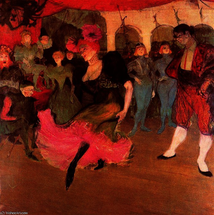 Miss Marcelle Lender dancing in 'Chilpéric' by Henri De Toulouse Lautrec (1864-1901, France)