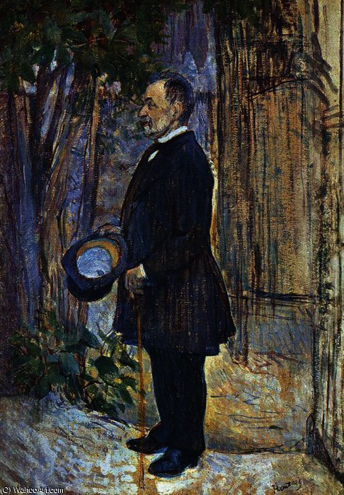 Picture of Henri Dihau by Henri De Toulouse Lautrec (1864-1901, France)
