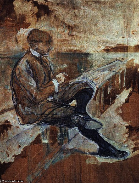 Picture of Louis Bouglé by Henri De Toulouse Lautrec (1864-1901, France)