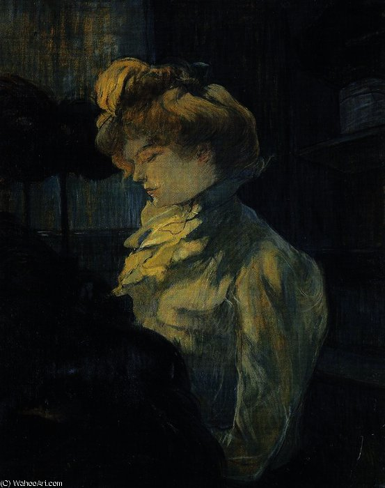 The seamstress by Henri De Toulouse Lautrec (1864-1901, France)
