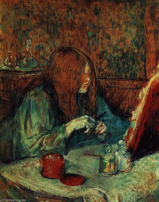 The toilete by Henri De Toulouse Lautrec (1864-1901, France)