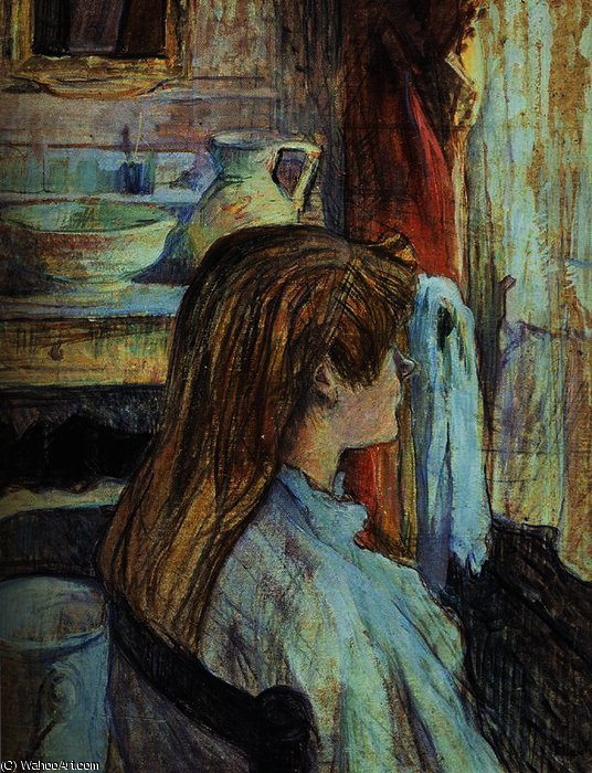 Woman to the Window by Henri De Toulouse Lautrec (1864-1901, France)