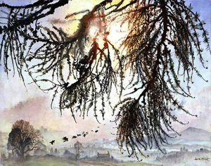 Dame Laura Knight - A misty sunrise