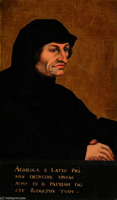 Rodolphus agricola by Lucas Cranach The Elder (1472-1553, Germany)