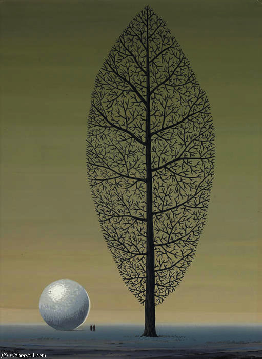 The search for absolute by Rene Magritte (1898-1967, Belgium)