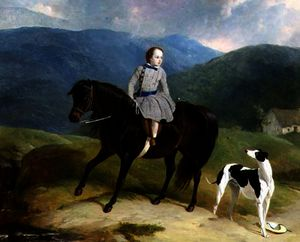 Abraham Cooper - Master Edward Coutts Marjoriebanks on his Pony