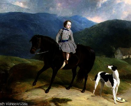 Master Edward Coutts Marjoriebanks on his Pony by Abraham Cooper (1787-1868, United Kingdom)