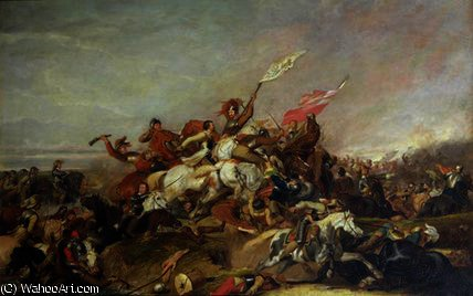 The Battle of Marston Moor in, 1819 by Abraham Cooper (1787-1868, United Kingdom)