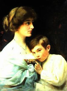 Alexander Mark Rossi - A Portrait of Marian Harford and Her Son Stuart