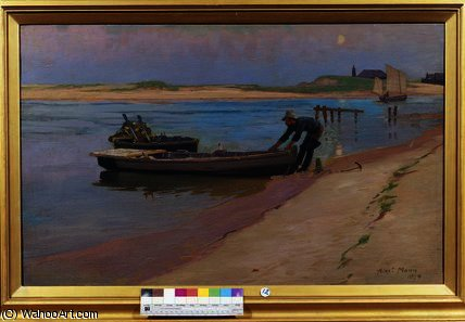 Order Museum Quality Reproductions : The End of the Day by Alexander Mann (1853-1908, United Kingdom) | ArtsDot.com