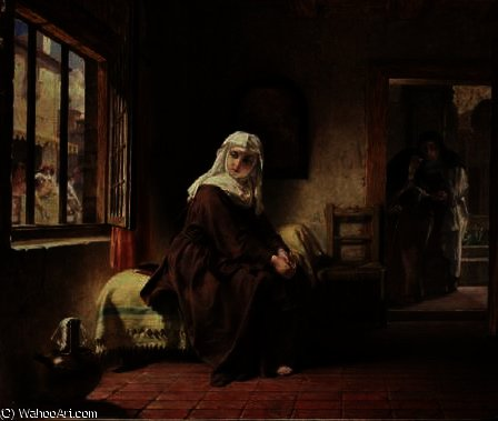 The novice by Alfred Elmore (1815-1881, Ireland) | Oil Painting | ArtsDot.com
