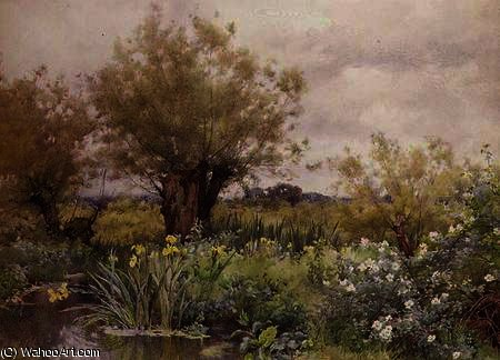 Near shiplake by Alfred Parsons (1847-1920, Australia)
