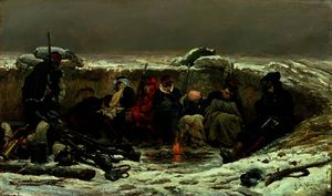 Alphonse Marie Adolphe De Neuv.. - In the Trenches