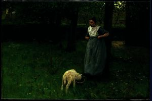 Anton Mauve - Larener Woman with a Goat