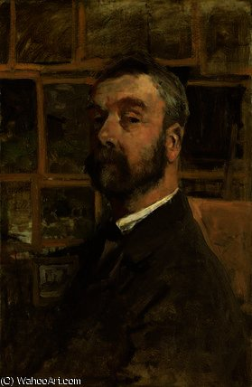 Self portrait by Anton Mauve (1838-1888, Netherlands) | Painting Copy | ArtsDot.com