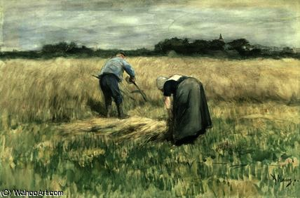 The harvest by Anton Mauve (1838-1888, Netherlands) | Museum Quality Reproductions | ArtsDot.com
