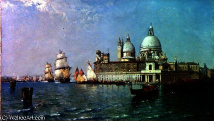 Venice, flood tide by Arthur Joseph Meadows
