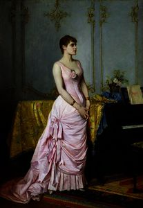 Auguste Toulmouche - Portrait of Rose Caron