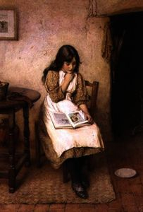 Charles Edward Wilson - A girl reading