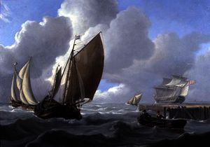 Charles Martin Powell - Shipping off the Dutch Coast