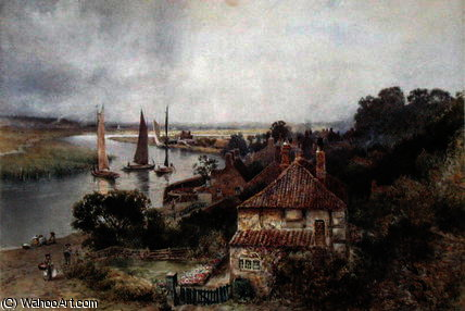 On the River Yare by Charles Robertson (1844-1891, United Kingdom) | Painting Copy | ArtsDot.com