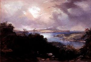 Conrad Martens - Sydney harbour looking towards the North Head