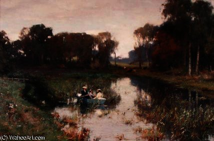 The boating party by David Farquharson (1839-1907, United Kingdom) | ArtsDot.com