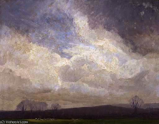 Moody weather by Elioth Gruner (1882-1939, New Zealand)