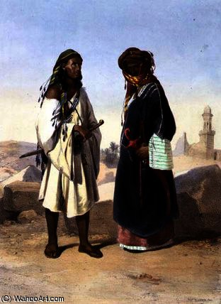 Order Oil Painting : A Wahabi with an Azami Arab by Émile Prisse D'avennes (1807-1879, France) | ArtsDot.com