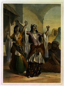 Émile Prisse D-avennes - Egyptian Dancing Girls Performing the Ghawazi
