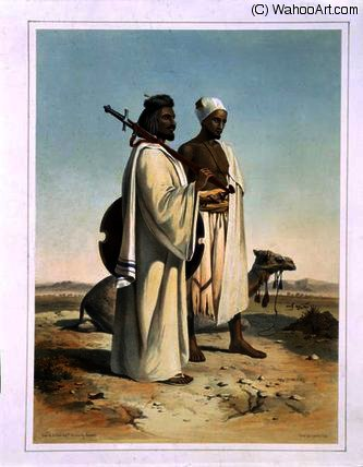 The Ababda, Nomads of the Eastern Thebaid Desert by Émile Prisse D'avennes (1807-1879, France) | Art Reproduction | ArtsDot.com
