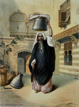 Young Arab Girl Returning from the Hammam by Émile Prisse D'avennes (1807-1879, France) | Art Reproduction | ArtsDot.com