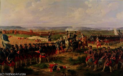 Battle of Fontenoy by Henri Félix Emmanuel Philippoteaux (1815-1884, France)