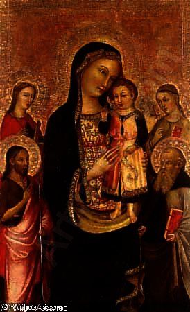 Madonna and Child with Saints Catherine by Francesco D'antonio Da Viterbo (1407-1476, Italy)