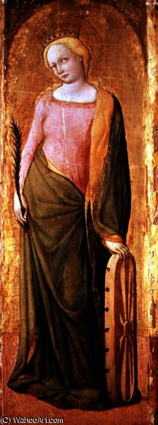 St Catherine of Alexandria by Francesco De' Franceschi (1425-1468, Italy) | Art Reproduction | ArtsDot.com