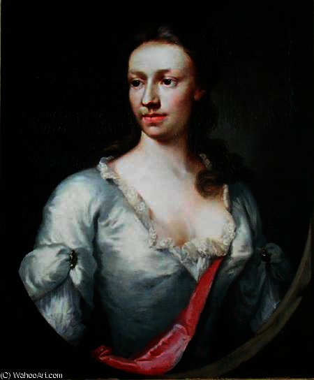 Portrait lady dormer family hi by Francesco Foschi (1710-1780, Italy) | Art Reproduction | ArtsDot.com