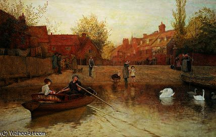 Marlow ferry by Frederick Walker (1840-1875, United Kingdom)