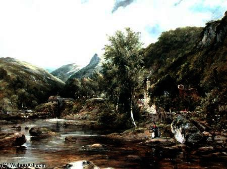 Pandy Mill, Bettys-y-Coed by Frederick Waters Watts (1800-1870, United Kingdom)