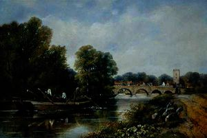 Frederick Waters (William) Watts - The Bridge at Henley-on-Thames