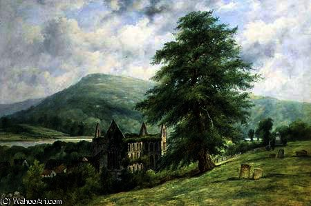 Tintern abbey by Frederick Waters (William) Watts (1800-1870, United Kingdom)