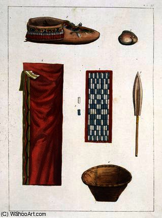 Objects belonging to Canadian Indians by Gallo Gallina (1796-1874, Italy)