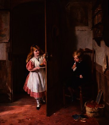 The naughty boy by George Bernard Oneill (1828-1917, Ireland) | Museum Quality Reproductions | ArtsDot.com
