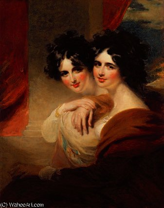 Congratulations - portraits of two ladies by George Henry Harlow (1787-1819, United Kingdom)